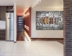 COFFEE GRUNGE- typograficzny obraz na płótnie