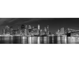 MOST BROOKLYŃSKI NEW YORK panorama - obraz na szkle - grafika