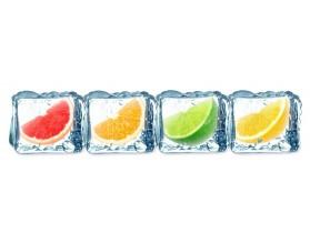 Owoce w lodzie - grafika