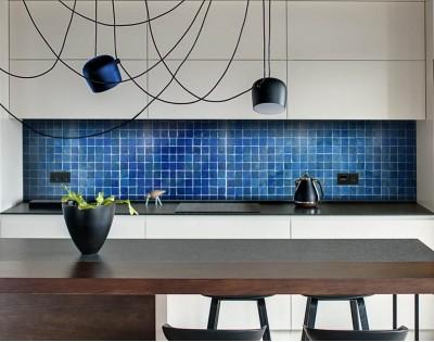 BLUE POOL - panel szklany na wymiar