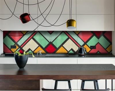 COLOURFUL - panel szklany w stylu retro
