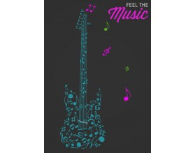 FEEL THE MUSIC - modny plakat w ramie - grafika