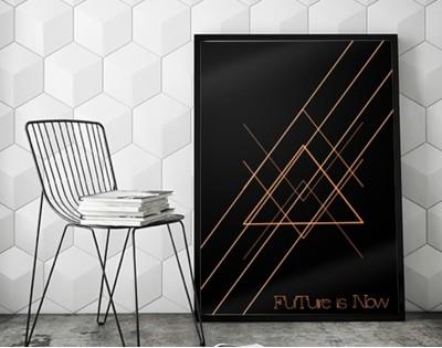 FUTURE IS NOW - designerski plakat typograficzny
