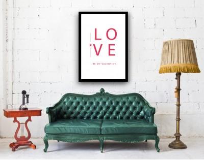 BE MY VALENTINE - plakat miłosny