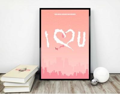 I LUV U - plakat miłosny