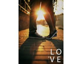 IN LOVE - plakat miłosny - grafika