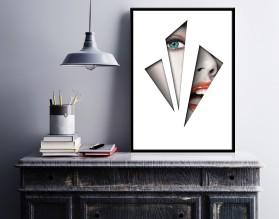 BEHIND BARS - designerski plakat w ramie