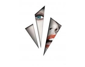 BEHIND BARS - designerski plakat w ramie - grafika