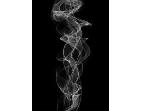 BLACK SMOKE - designerski plakat w ramie - grafika
