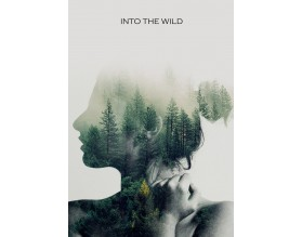 INTO THE WILD - designerski plakat w ramie - grafika