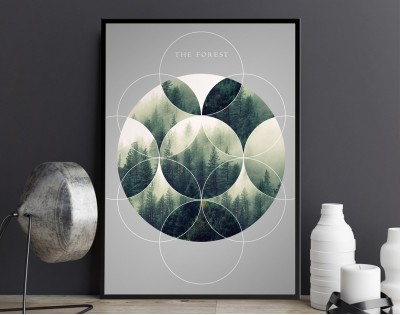 THE FOREST - designerski plakat w ramie