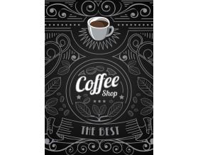 COFFEE SHOP - nowoczesny plakat w ramie - grafika
