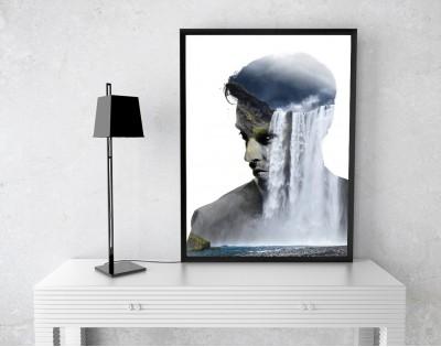FLOWING THOUGHTS - designerski plakat w ramie