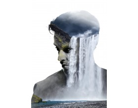 FLOWING THOUGHTS - designerski plakat w ramie - grafika