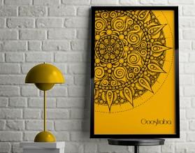 GOOSFRABA - designerski plakat w ramie