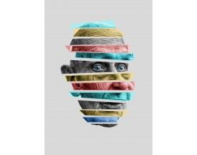 GRANDPA COLOUR - designerski plakat w ramie - grafika