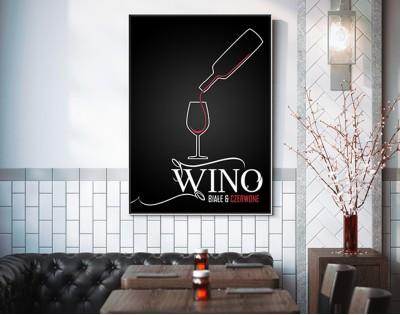 WINO - nowoczesny plakat w ramie