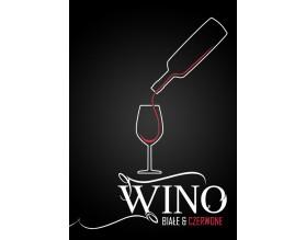 WINO - nowoczesny plakat w ramie - grafika