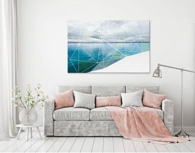 GEOMETRIC SEA - designerski obraz na płótnie