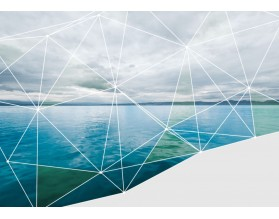 GEOMETRIC SEA - designerski obraz na płótnie - grafika