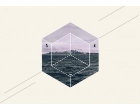 SEA BLOCK - nowoczesny obraz na płótnie - grafika