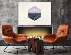 SEA BLOCK - nowoczesny obraz na płótnie