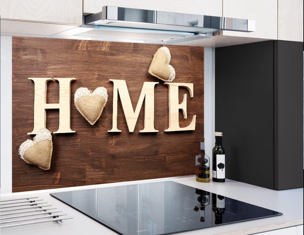 RETRO Z SERCEM - Panel szklany do kuchni